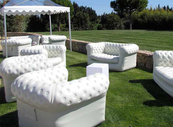 Lm sud design canap chesterfield gonflable - Canape chesterfield gonflable ...